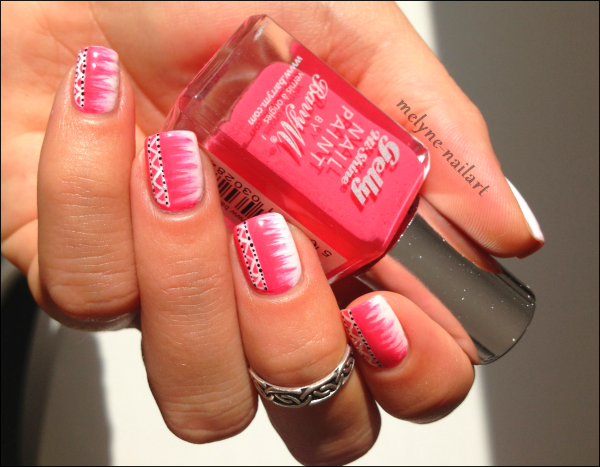 Nail Art barry M rose azteque