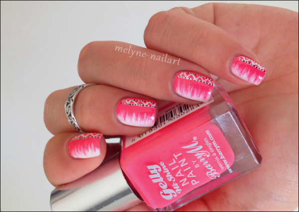 Nail Art barry M rose azteque 1