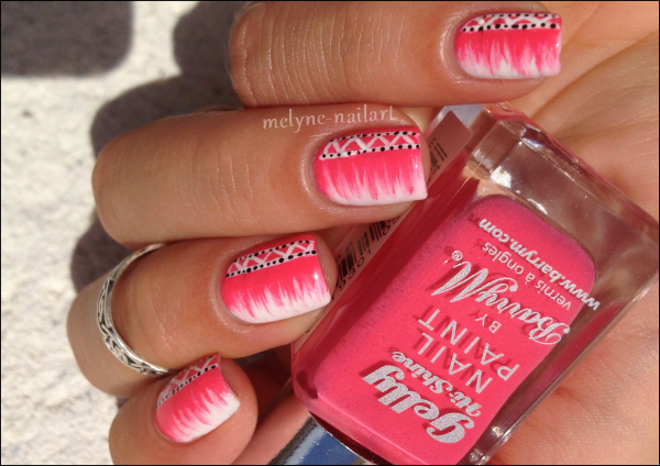 Nail Art barry M rose azteque 10