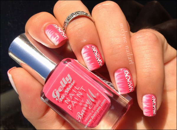 Nail Art barry M rose azteque 2