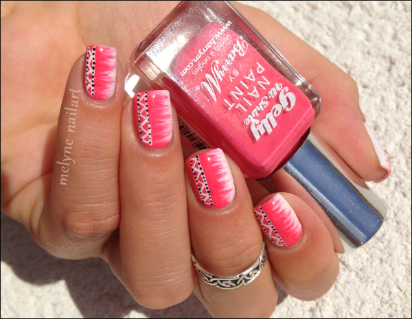 Nail Art barry M rose azteque 4