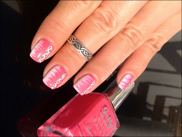 Nail Art barry M rose azteque 5