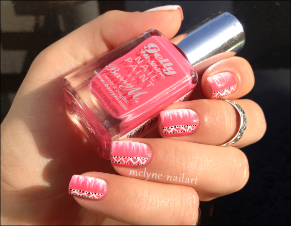 Nail Art barry M rose azteque 7