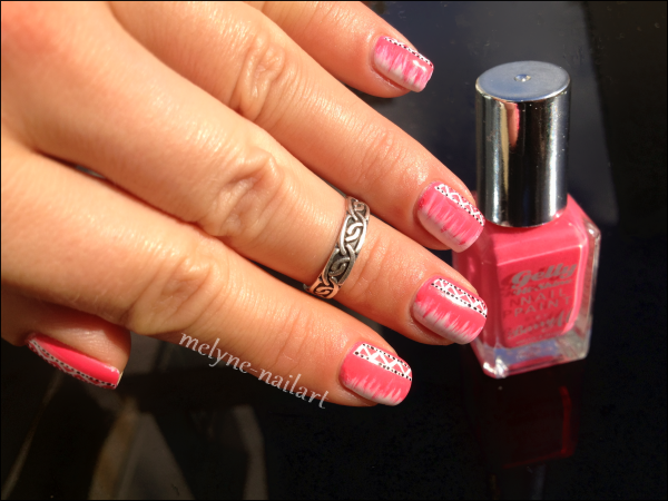 Nail Art barry M rose azteque 8