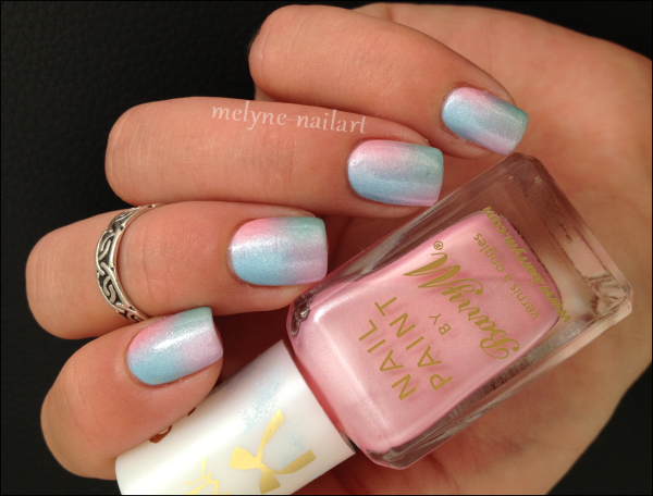 Nail Art degradé pastel Barry M silk 1