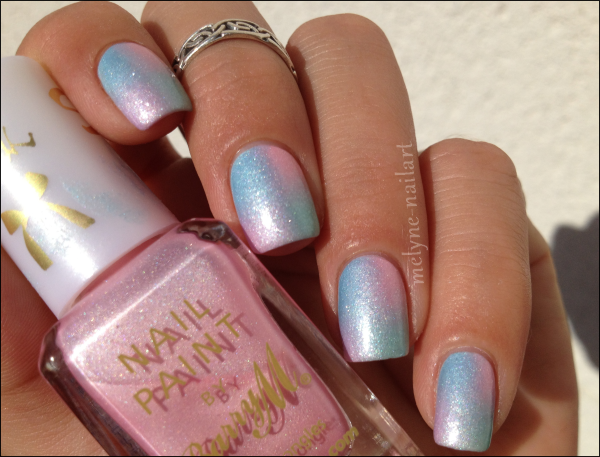 Nail Art degradé pastel Barry M silk 10