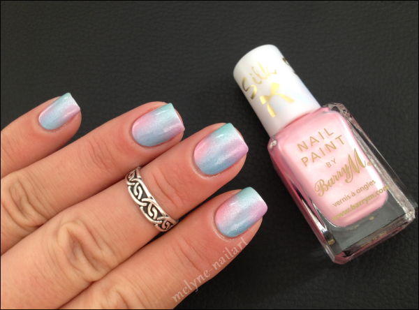 Nail Art degradé pastel Barry M silk 4