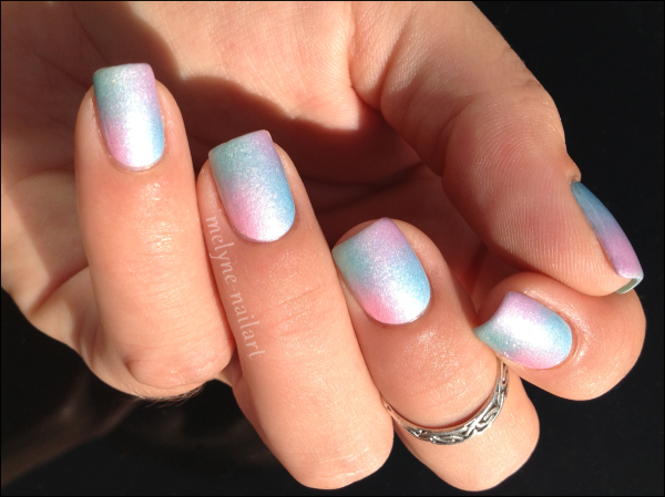 Nail Art degradé pastel Barry M silk 5