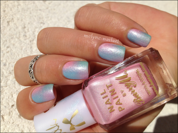 Nail Art degradé pastel Barry M silk 7