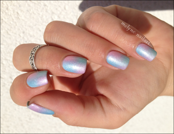 Nail Art degradé pastel Barry M silk 8