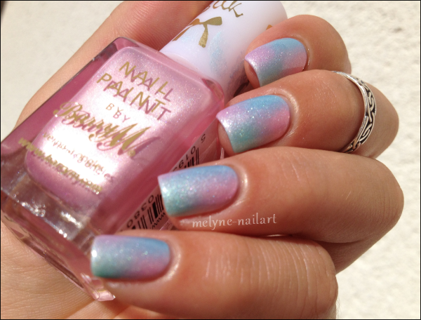 Nail Art degradé pastel Barry M silk 9