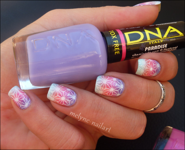 Nail Art degradé DNA Italy 6