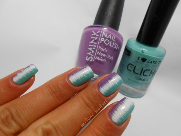 Nail Art effet couture vernis ongles smink et cliche 1