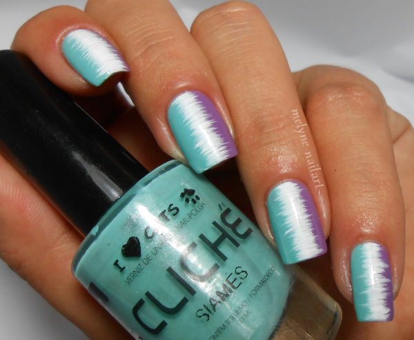 Nail Art effet couture vernis ongles smink et cliche 2