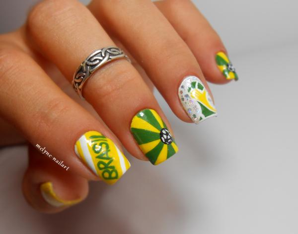 Nail art coupe du monde du Brésil
