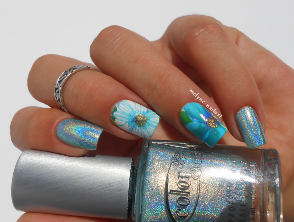 nail art fleurs water decal Born Pretty Store, color club Angel Kiss