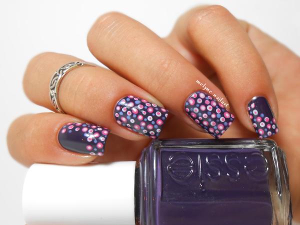 Polka Dot Nails Ou Nail Art Imprim Seventies Melyne Nailart
