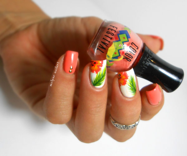 Nail art tropical Bourjois Color Festival