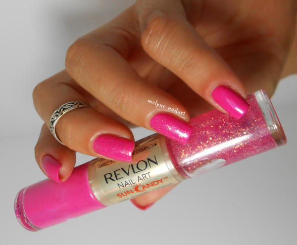 Revlon Shimmering Sunset 410, Nail art Sun Candy