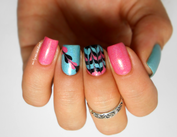 Drag nails ou No water marble nails I love Nail Polish