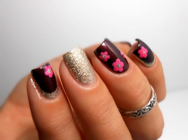 Nail art fleurs faciles et ruffian avec Essie