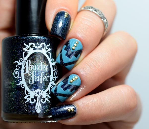 nail art chevrons azteques Powder Perfect Despair