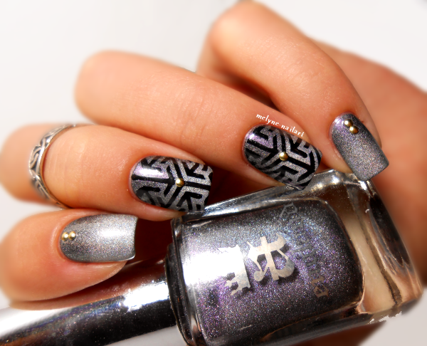 Nail art gradient Ascalon et Encore Margot, stamping Pueen