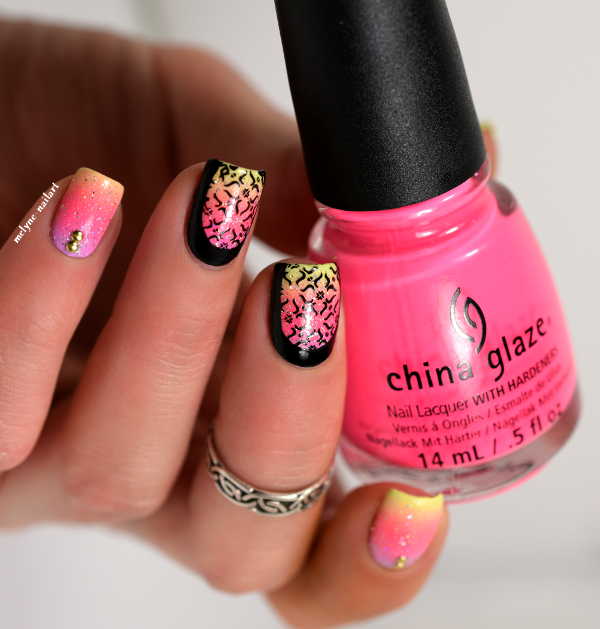 Summer gradient nails ruffian et stamping