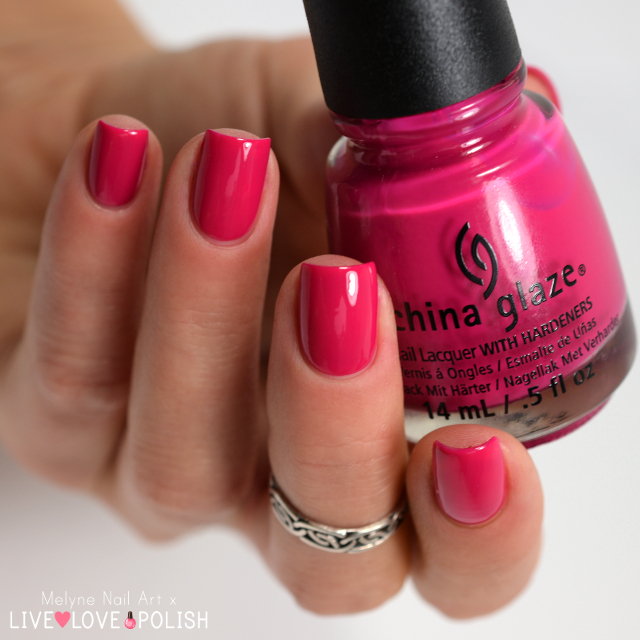 China Glaze Fuchsia Fanatic collection Electropop