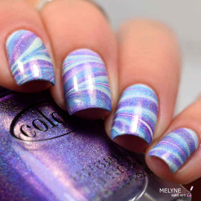 watermarble holo color club violet et bleu