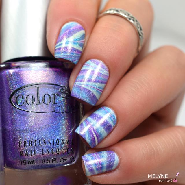watermarble holo color club violet et bleu