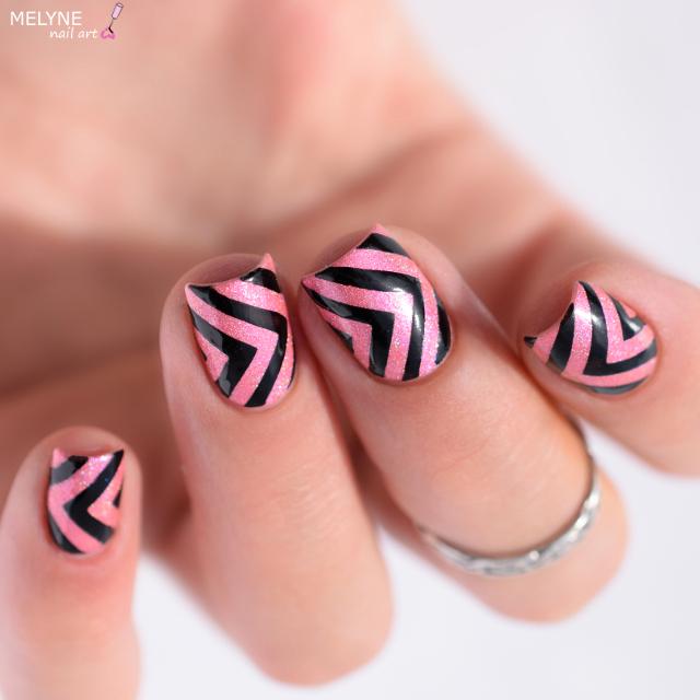 Nail art geometrique vinyl angle