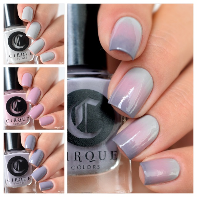 Cirque Colors Metroplis collection Gradient nails