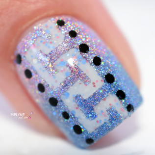 Nail art geometrique et gradient Painted Polish 3