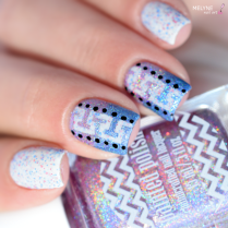 Nail art geometrique et gradient Painted Polish 4