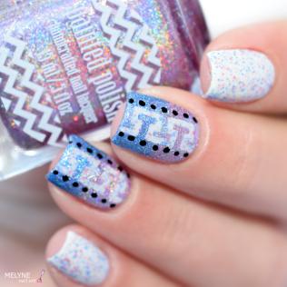 Nail art geometrique et gradient Painted Polish 6