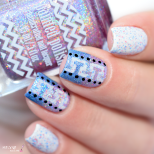 Nail art geometrique et gradient Painted Polish 6