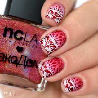 Nail art stamping dégradé NCLA 2