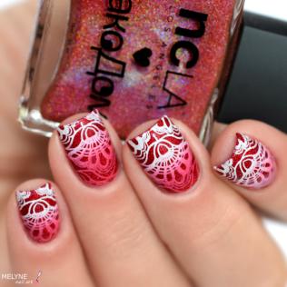 Nail art stamping dégradé NCLA