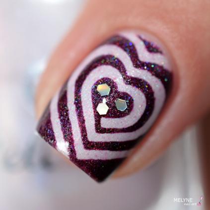 Nail art vinyls coeur 6