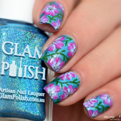 Sans titreNail art fleurs faciles zoom Glam polish 2