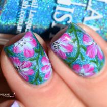 Sans titreNail art fleurs faciles zoom Glam polish 7