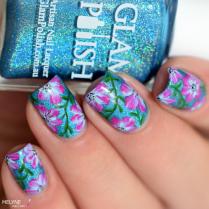 Sans titreNail art fleurs faciles zoom Glam polish