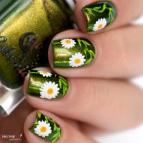 Nail art paquerettes 4