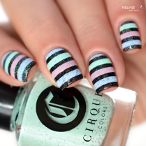 Nail art stripe cirque colors 1