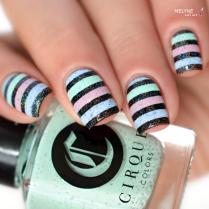 Nail art stripe cirque colors 1