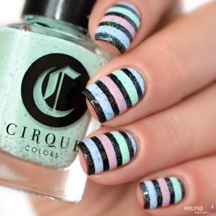 Nail art stripe cirque colors 2
