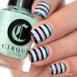Nail art stripe cirque colors 2