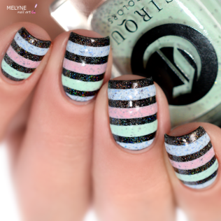 Nail art stripe cirque colors 4