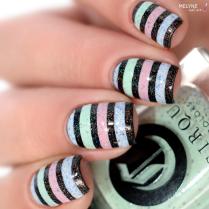 Nail art stripe cirque colors 5